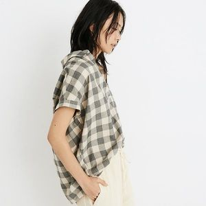 Madewell central drapey shirt in buffalo check
